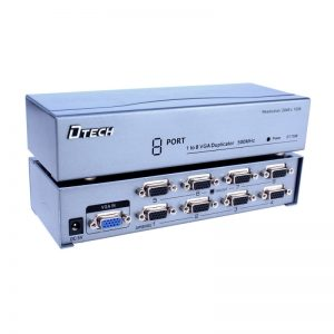 اسپلیتر VGA هشت پورت با کیفیت 500 مگاهرتز Dtech DT-7508