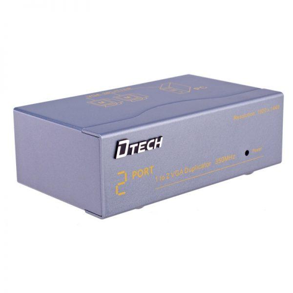 اسپلیتر VGA دو پورت با کیفیت 350 مگاهرتز Dtech DT-7352