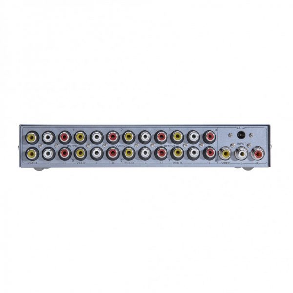 اسپلیتر AV هشت پورت Dtech DT-7208