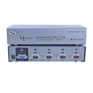 اسپلیتر VGA AUDIO چهار پورت 500 مگاهرتز Dtech DT-AU7504