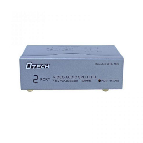 اسپلیتر VGA AUDIO دو پورت 500 مگاهرتز Dtech DT-AU7502