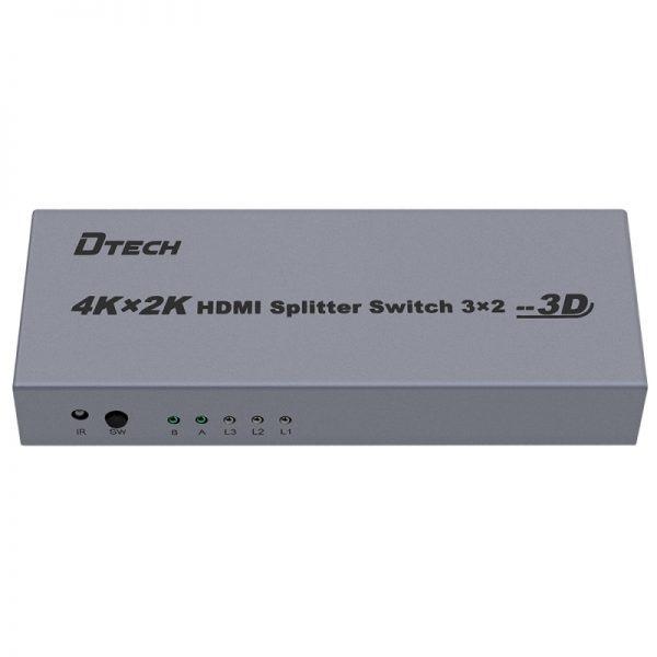 سوئیچ اسپلیتر HDMI سه به دو Dtech DT-7432
